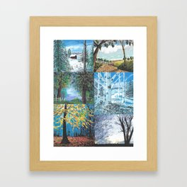 All Seasons Collage Framed Art Print