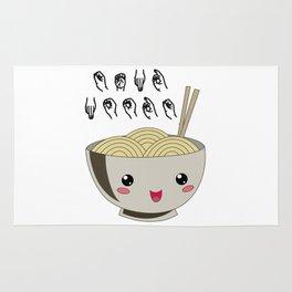 Send Noods Ramen Japanese Noodle Lover In Sign Language Rug