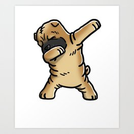 Funny Dabbing Shar Pei Dog Dab Dance Art Print