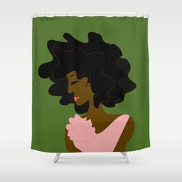 The Lady in Pink Shower Curtain