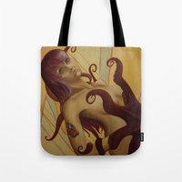 madonna Tote Bags featuring Modern Madonna by Olga Noes