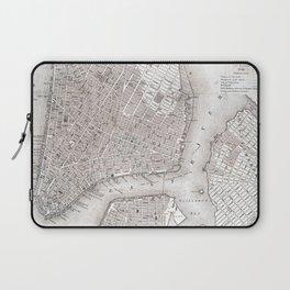 Vintage New York City Map Laptop Sleeve