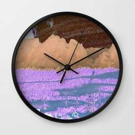 landscape collage #06 Wall Clock