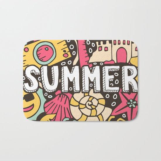 Summer Doodle Bath Mat