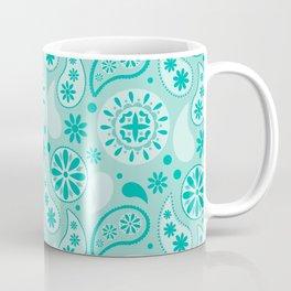 Bohemian Dream in Turquoise Coffee Mug