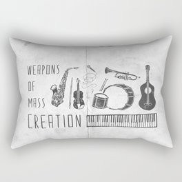Weapons Of Mass Creation - Music (on paper) Rectangular Pillow