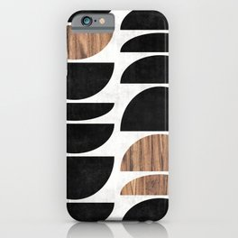 Mid-Century Modern Pattern No.7 - Concrete and Wood iPhone Case