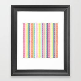 Textured Stripes Framed Art Print