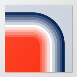 70s Stripes Rainbow Canvas Print