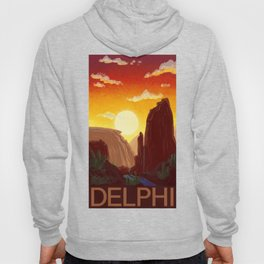 Sixty-Four: Delphi Travel Poster Hoody