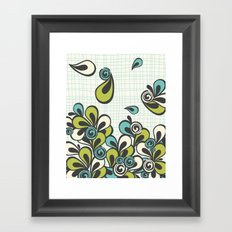 Mod Swoop Framed Art Print