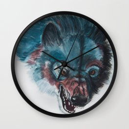 Angry Wolf Wall Clock
