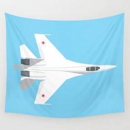 Su-27 Flanker Fighter Jet Aircraft - Sky Wall Tapestry