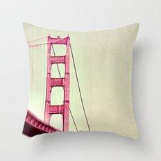 The Tip of the Bridge Throw Pillow