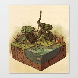 D&D: Bullywugs of the Bog Canvas Print