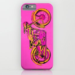 Pop Art Vintage Triumph Motorcycle iPhone Case