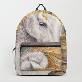 Andalusian Dapple Horse Watercolor Backpack