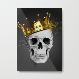 Royal Skull Metal Print