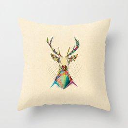 Illustrated Antelope Throw Pillow