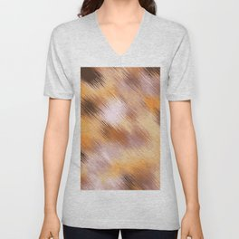 brown orange and black painting texture abstract background Unisex V-Neck