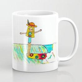 Hang 10 Lady Slider Coffee Mug
