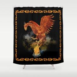 Ignis Magnum: Firebird Shower Curtain