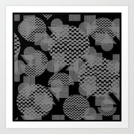 geometry pattern Art Print