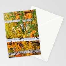 Birch Trees and Autumn Colors Stationery Cards