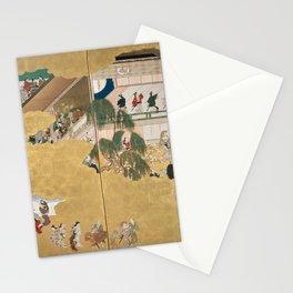 Hishikawa Moronobu - Scenes from the Nakamura Kabuki Theater (1690s) Stationery Cards