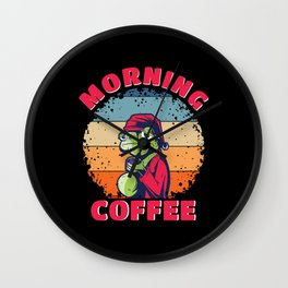 Don't Be A Frog Have A Coffee Wall Clock