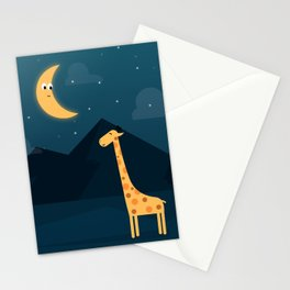 The Giraffe and the Moon Stationery Cards