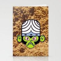 jojo Stationery Cards featuring MOJO JOJO by HelloWolfgang