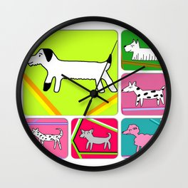 Bertie and chums Wall Clock