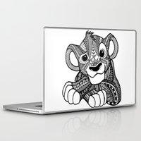 simba Laptop & iPad Skins featuring Zentangle Simba by ElFineLines