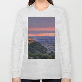The alhambra and Granada city at sunset Long Sleeve T-shirt