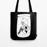 frankenstein Tote Bags featuring ▴ frankenstein ▴ by PIXIE ❤︎ PUNK