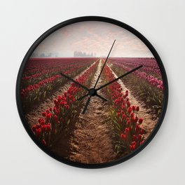 tulips forever Wall Clock