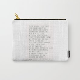 The Guest House #poem #inspirational Carry-All Pouch