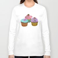 cupcakes Long Sleeve T-shirts featuring Cupcakes!  by Megs stuff