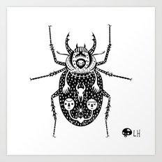 Diaboli Scarabæus - The Devil's Beetle Art Print