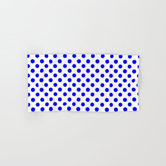 Polka Dots (Blue/White) Hand & Bath Towel