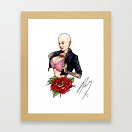 Tats on Girls Vol.1 - Balled with japanese cat sleeve Framed Art Print