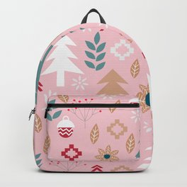 Cute Christmas in pink Backpack