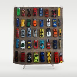 1980's Toy Cars Shower Curtain