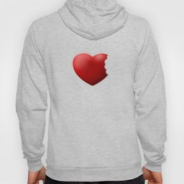 a bite of love (nibbled heart) Hoody