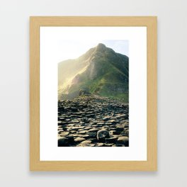 Madeira stone path leading into the mountains Framed Art Print