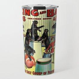 Ringling Bros and Barnum & Bailey Circus Black Leopards Vintage Poster Travel Mug