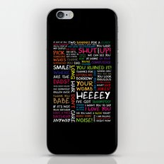 Harry Styles - WWAT Quotes iPhone & iPod Skin