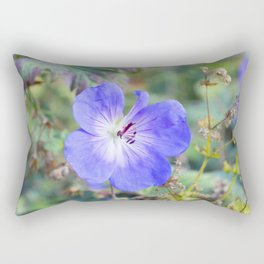 Blue Flower Rectangular Pillow