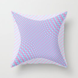 Pinch Effect on Lines Throw Pillow